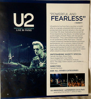 U2 Live Inparis J Cole Forest Hills Drive Homecomin Fyc Emmy Promo Dvd 2016 Hbo