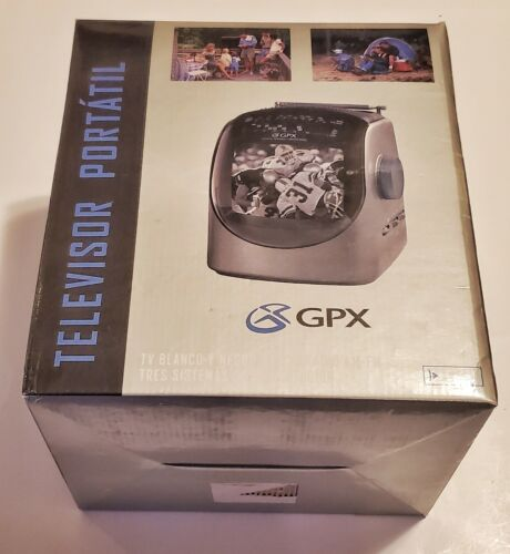 NEW -GPX Portable TV B/W Monitor AM/FM Radio Reciever ~ Vint