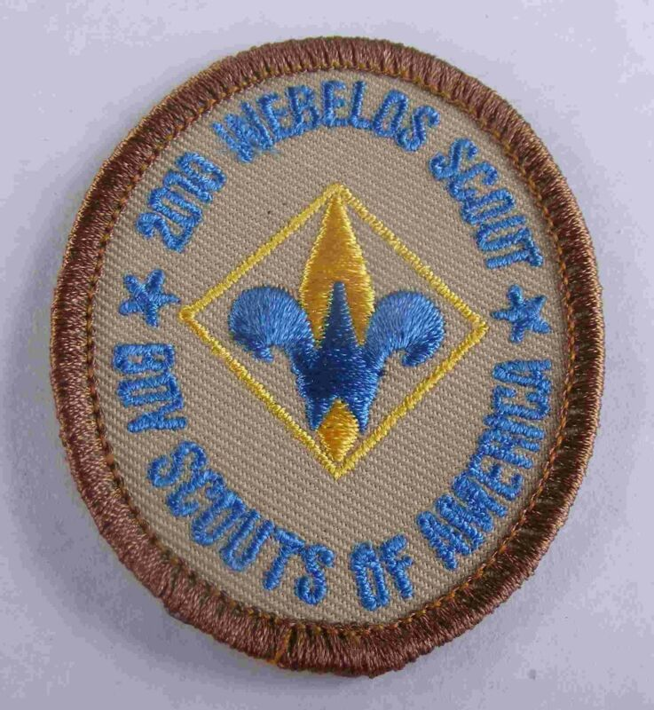 2010 Webelos Scout Oval Dark Blue 100th Ann. 2010 BSA Back 300315b