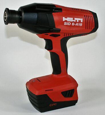 Hilti Sid 8-a18 Cordless Impact Driver Drill 21.6v With B 185.2 Li-ion Battery
