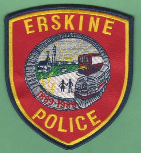 ERSKINE MINNESOTA POLICE SHOULDER PATCH LOCOMOTIVE RED STYLE