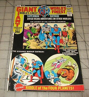 WORLD'S FINEST #206 (Nov 1971) Good++ Condition Comic - 80pg Giant G-88