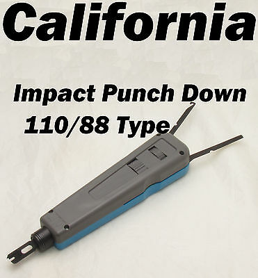 Professional Impact Punch Down Tool 110/88 Blade Network Cable Wire Cut Cat5 6  (Professional Punch Down Impact Tool)