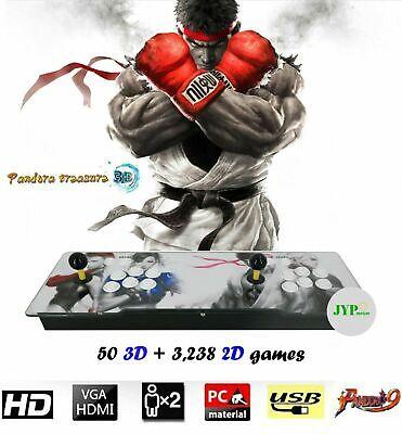 NEWEST! Pandora's Box 9H 3,288 Games 3D + 2D Games in 1 Joystick Arcade Console