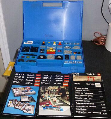 Lego Technic 9700 1090 1092 sets w books 9771 PC interface Vintage 1980's RARE