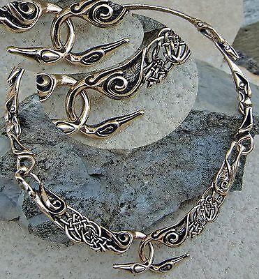keltischer Torques Halsreif  Bronze Schwäne Mittelalter Schwanenhalsreif Keltik
