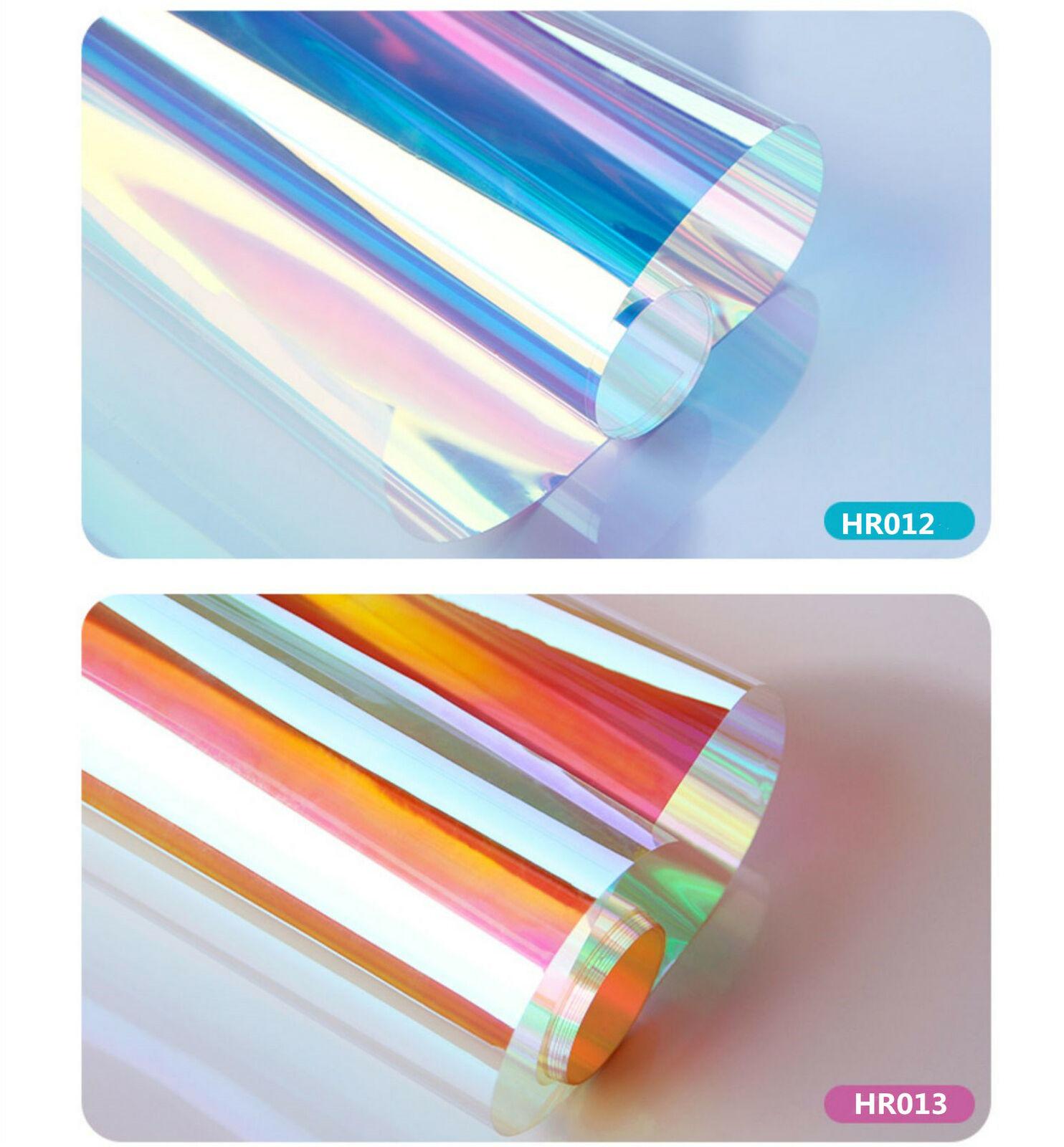 Dichroic Rainbow Window Film Transparent Two-way Sticker for