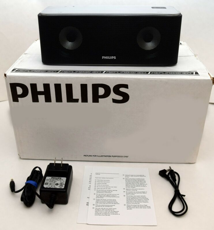 Philips SB365/37S Bluetooth Audio Wireless Portable Speaker BLACK bass-reflex