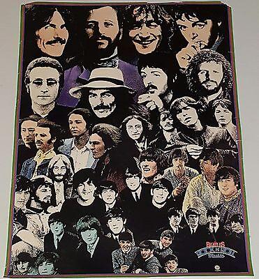 THE BEATLES Rock n Roll Music CAPITOL POSTER John Lennon Paul McCartney lp 45 cd