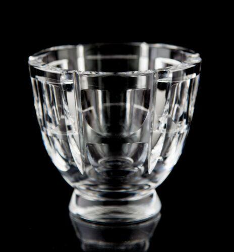 Orrefors Thousand Windows Votive Candle Holder Vintage Cut Glass Sweden