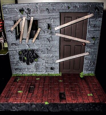Custom 1/12 Scale Action Figure Abandoned House Diorama Made To Order!