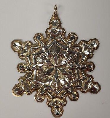 Sterling Snowflake (GORHAM 1971 STERLING SILVER SNOWFLAKE CHRISTMAS)
