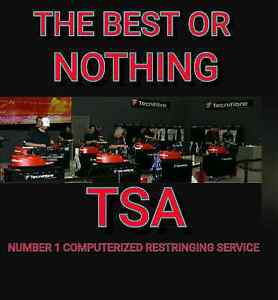 TSA  SIMPLY THE BEST COMPUTERIZED RESTRINGING SERVICE IN AUSTRALI Adelaide CBD Adelaide City Preview