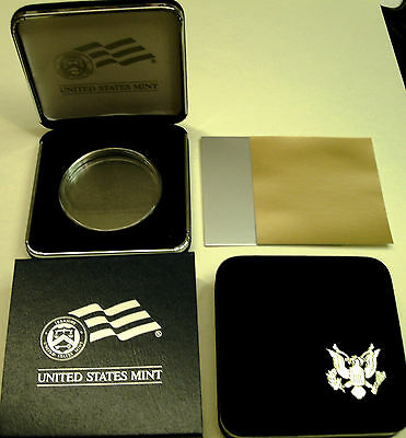 1-O.S. US MINT CS+H-40 mm Acrylic Hldr-for AM SILVER EAGLE$1Coin-NO COIN Incld!