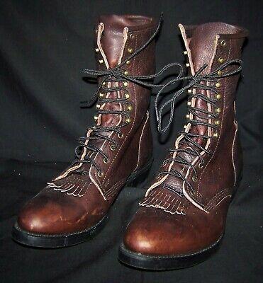 Mens Double H Lacer Cowboy Boots (13 D brown)