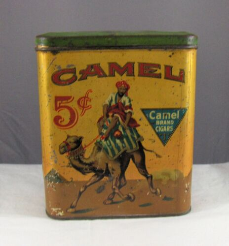 """Vintage Advertising Tobacco """" CAMEL """" Cigars Empty Container"""