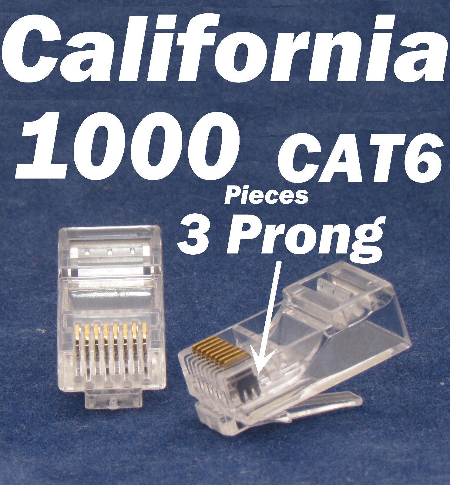 1000 X Pcs 3 Prong Teeth Rj45 8p8c Network Cable Modular ...