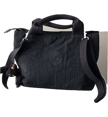 KIPLING MEDIUM SIZED BLACK SHOULDER / HAND BAG WITH MONKEY NAMED LESLEY