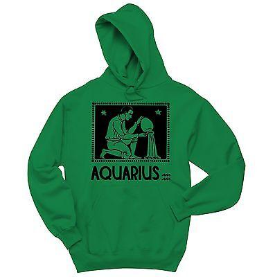 Horoscope Sweatshirt Aquarius January February Birthday Gift Hoodie