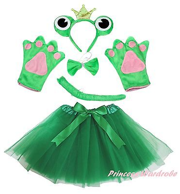 Halloween Party Adult Women Crown Frog Headband Paw Tail Bow Gauze Skirt Costume](Women's Toad Halloween Costume)
