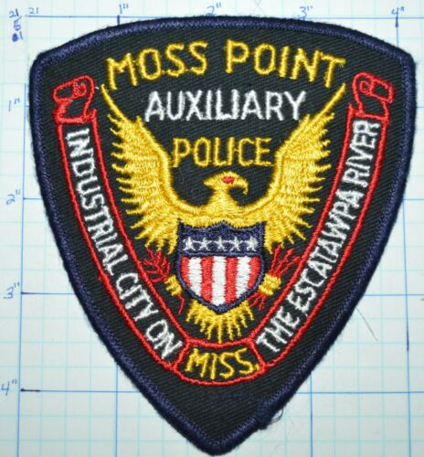 MISSISSIPPI, MOSS POINT AUXILIARY POLICE DEPT PATCH