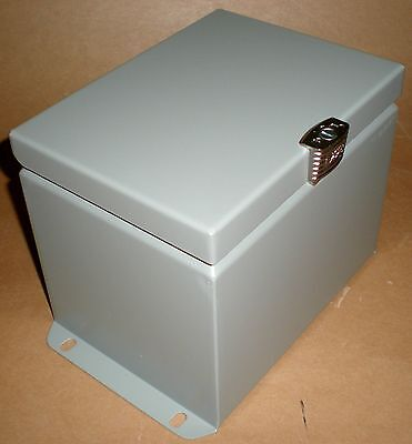 Electrical Enclosure Junction Box Steel Gray Exm Eurobex 5412-esch080606 8x6x6