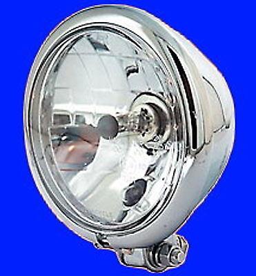 chrom Scheinwerfer Classic H4 180mm