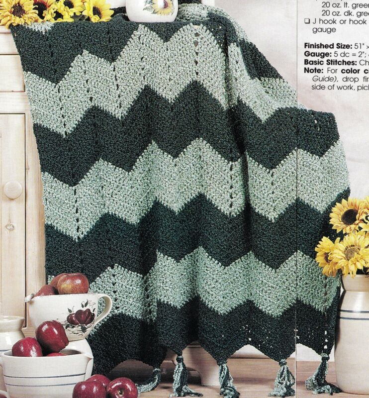 COZY Ripple Homespun Afghan/Crochet Pattern INSTRUCTIONS ONLY