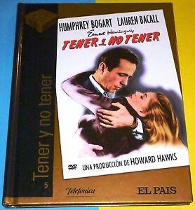 TENER-Y-NO-TENER-DVD-LIBRO-Humphrey-Bogart-amp-Lauren-Bacall-Howard-Hawks-NUEVA