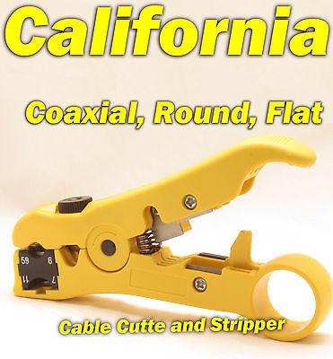 Cable Cutter Network Tool Coax Stripper Coaxial Rg59 Rg 6 7 11 Cat5 Cat6 Cat 8p