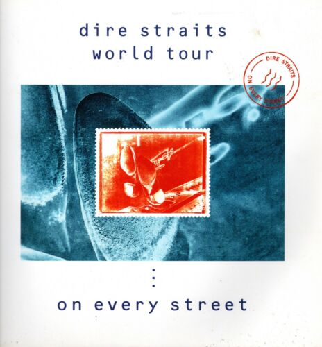 DIRE STRAITS 1992 ON EVERY STREET TOUR CONCERT PROGRAM BOOK-MARK KNOPFLER EX/NM
