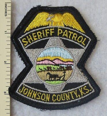 JOHNSON COUNTY KANSAS SHERIFF PATROL PATCH Vintage ORIGINAL