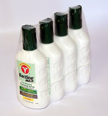 Pack of 4 Bactine Max Pain Relieving Cleansing antiseptic Spray Lidocaine 4% Pain Relieving Antiseptic