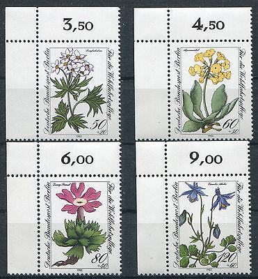 Berlin 703 - 706 postfrisch Eckrand Satz Ecke 1 Blumen 1983