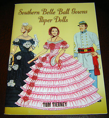 Southern Belle Ball Gowns Paper Dolls Civil War Paperback Book brand new history - Southern Belle History