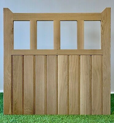 Solid Oak Rustic Garden Gate 1050mm X 1050mm Handcrafted Solid European Oak Gate