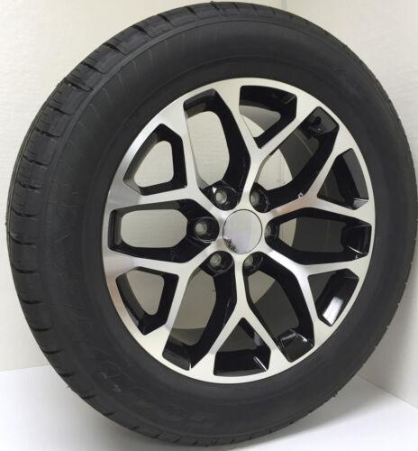 "Chevy Silverado 20"" Black And Machine Snowflake Wheels Tires Z71 Suburban Tahoe"