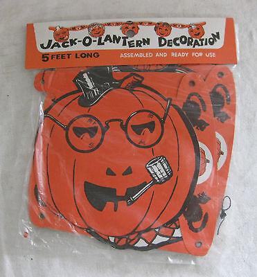 1950's 1960s MIP 5ft Folding JACK-O-LANTERN Made in Japan SMOKING PIPE