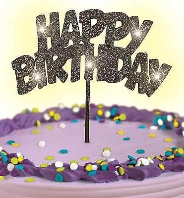 Blinkende LED-Geburtstagsdeko Tortendeko Kuchendeko Geburtstag Happy Birthday