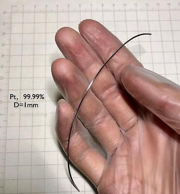 Pure Platinum Metal Wire 99.99 Diameter 0.5mm Length 10mm