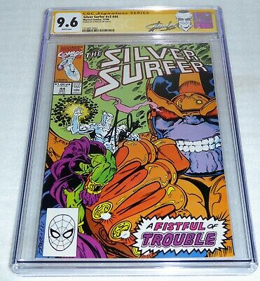 Silver Surfer #v3 #44 CGC SS Signature Autograph STAN LEE 1st Infinity Gauntlet