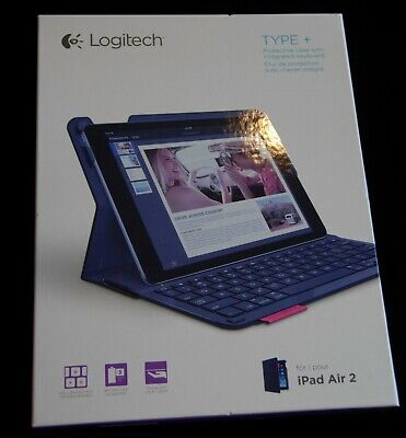 Logitech 920-006912 Type+ Case with Integrated Keyboard for iPad Air 2 - Black