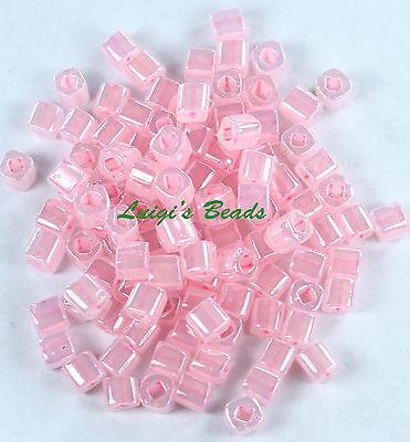 10g Ceylon Innocent Pink #145 TOHO Cube Glass Beads 4mm