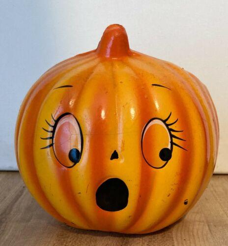 Vintage Holland Floral Halloween Pumpkin Jack O