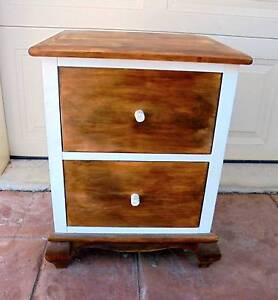 1x Wooden 2 Drawer 2 Tone Side/Bedside/Lamp Table Rothwell Redcliffe Area Preview