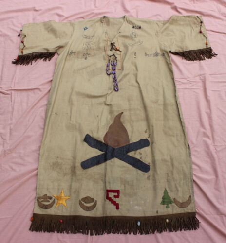VINTAGE 1923 CAMP FIRE GIRLS CEREMONIAL GOWN - INDIANA