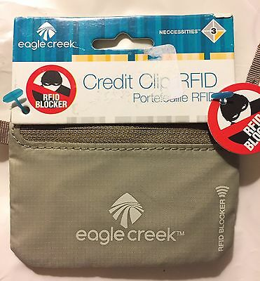 Eagle Creek Credit Card Clip-RFID Blocker-New