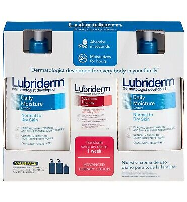 Lubriderm Daily Moisture Lotion 24 fl. oz 2 pk Advanced Therapy Lotion 6 fl. oz
