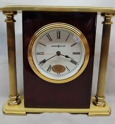 Howard Miller Rosewood Encore Bracket Brass Table Shelf Desk Clock Model 645-104