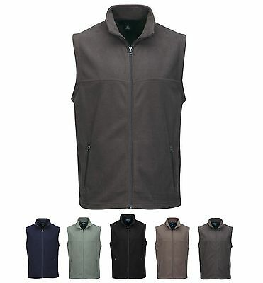 MEN'S MID-WEIGHT, ANTI-PILL, ZIP MICRO FLEECE VEST, POCKETS S-4XL, TALL LT-4XLT - Fleece Zipper Vest
